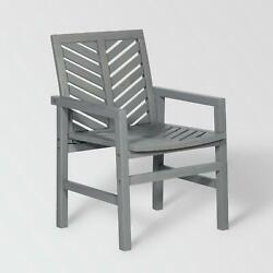 Grey Wash Chevron Outdoor Wood Patio Chairs By Manor Park Set Of 2