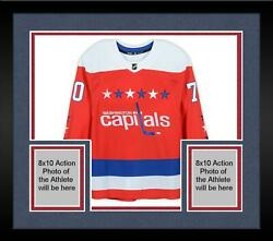 Framed Braden Holtby Washington Capitals Signed Red Alternate Authentic Jersey