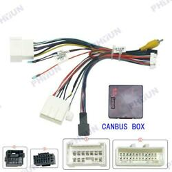 1 X 16pin Power Wiring Harness With Canbus Box Car Audio Android For Renault