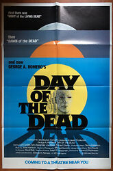 Day Of The Dead 1985 Original Advance Us One Sheet Movie Poster Romero Zombie