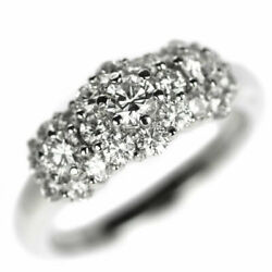 Royal Usher Pt900 Diamond Ring D1.10ct - Auth Selby_japan