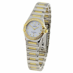 Omega Constellation Lady Stainless Steel And Gold Quartz Wristwatch 1365.71.00