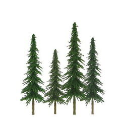Jtt Scenery Products 92026 N 2-4 Super Scenic Spruce Tree Pack Of 36