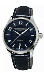 Frederique Constant Menand039s Automatic Blue Leather Strap 42mm Watch Fc-303rmn5b6