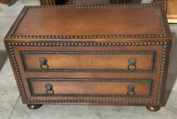 Theodore Alexander Wood Chest Drawer Hand Carved