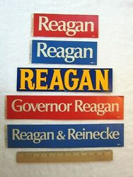 Ronald Reagan For Governor 1966 Bumper Stickers, Vintage Lot Of 5, Political
