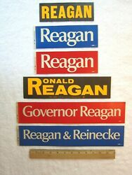 Ronald Reagan For Governor 1966 Bumper Stickers, Vintage Lot Of 6, Political