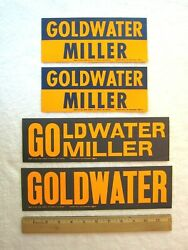 4 Vintage 1964 Barry Goldwater For President Bumper Stickers, Political