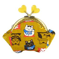 Hand Made In Australia Japanese Lucky Cats Coin Purse Collectable Wallet 0178