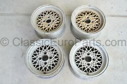 13'' 4x100 Bbs Mahle Wheels For Bmw E10 E21 Vw Rabbit Golf Mk1 Mk2 With Defects