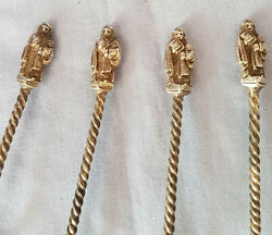 Apostle Spoons Set Of Four Silver Plated Beautiful Antique Items Well Hallmarked