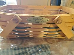 New 1999 Longaberger Woven Memories Homestead Basket With Lid Plus Accessories