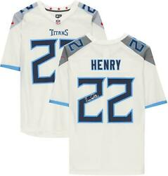 Derrick Henry Tennessee Titans Autographed White Nike Game Jersey