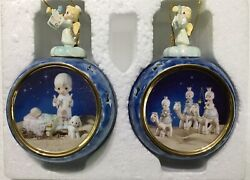 1999 Precious Moments Bradford They Followed Star And Play My Drum Ornament Set