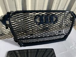For Audi A4 S4 B8.5 Rs4 Style 2013-2015 2014 Mesh Grille Front Grill W/ Quattro