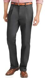 Izod Menand039s Big And Tall Double-pleated Ultimate Travel Non-iron Pants Nwt 46 X 30