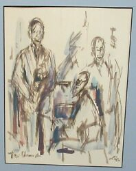 Lula New Orleans Jazz Band Original Watercolor Painting Dated 1960