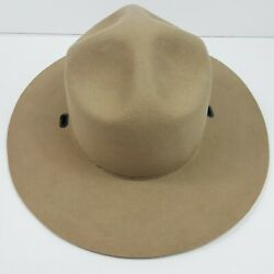 John B Stetson Co Beaver 3x National Park Service Hat No Band Never Used 6 5/8