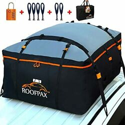 Roofpax Car Roof Bag And Rooftop Cargo Carrier Andndash 15 Cubic Feet Heavy Duty Bag 1...