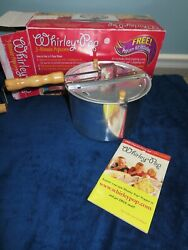 New Wabash Valley Farms Whirley-pop Stovetop Popcorn Popper