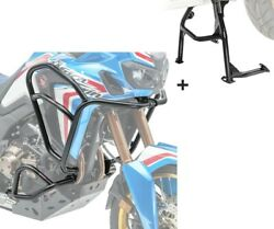 Engine Guard + Centre Stand Set Xl For Honda Africa Twin Crf 1000 L 16-19