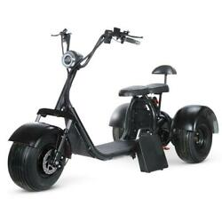 Soversky Electric Fat Tire Tricycle Scooter 2000w Adult Mobility Scooter Black