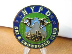 Nypd New York Police Department Ski And Snowboard Club Challenge Coin 4788