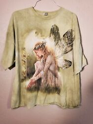 The Mountain Menand039s T-shirt Xxxl Fairy Mary Baxter The Original Hand Dyed 2002