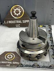 Seco Cat50 Holder W/ R220.96-8200-08-12c Mill Cutter And Inserts _fast Shipping