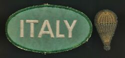 Ww2 Italian Paratrooper Medal Patch Insignia Badge Us Italy Pow Airborne Soldier