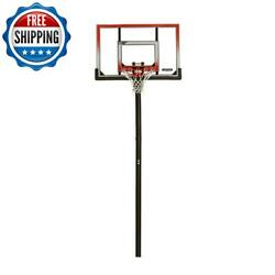 Outdoor In-ground Adjustable Basketball Hoop Stand System Backboard 50-inch