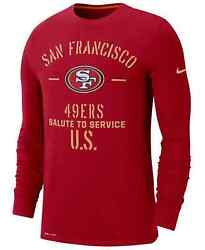 New San Francisco 49ers Nike Salute To Service Sideline Performance Long T-shirt