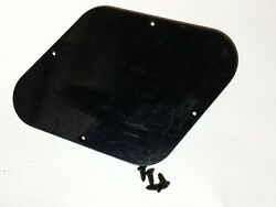 Black Genuine Usa Gibson Les Paul Control Plate Back Cover And Screws