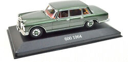 Mercedes-benz 600 Year 1964 Green Scale 143 From Atlas With Display Cabinet