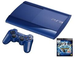 Ps3 Azurite 250gb Blue System With All-stars Battle Royale Bundle Console Video
