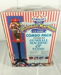 Vintage 1986 37 Carousel King Classic Gumball Candy Machine And Stand Glass Globe