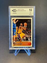 1996-97 Topps Kobe Bryant Rookie Card Rc 138 Bccg 10 Mint Lakers Clean