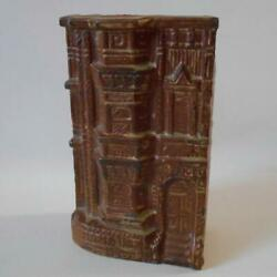 Vintage Brownstone House Pocket Wall Vase Victorian Style 7quot; Tall