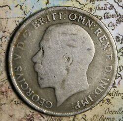1921 Great Britain Silver One Florin Free Shipping