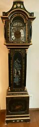 Hand-painted Kitschy Grandfather Clock, German Made Tempus Fugit Offers Accepted