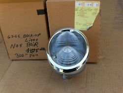 1963 To 1966 Corvette Back Up Lights. Nos Gm 910427 910428. New Pair. 64 65