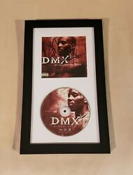 Dmx Signed Its Dark And Hell Is Hot Cd Framed Jsa Full Letter Authentic Rare