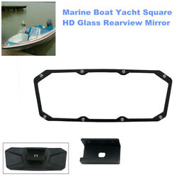 Marine Boat Yacht Square Hd Glass Rearview Mirror Rear View Wide Angle Safety