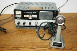 Lafayette Comstat 25a 23 Channel Crystal Tube Cb Radio W/ Turner 254 Mic Works