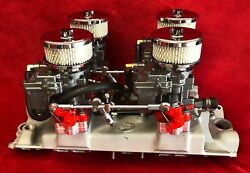 Offenhauser 4-deuce Fuel System For 348 Chevy