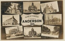 Rp Anderson , Indiana , 1912 8 View Postcard