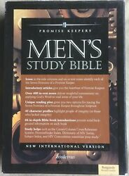 The Promise Keeper's Men's Study Bible - Bonded Burgundy Leather-bound Edition
