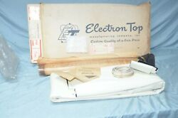 Vtg Nos 1960 Ford Sunliner Convertible Top White Vinyl Rear Curtain Window Bad
