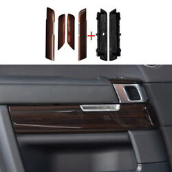 For Range Rover Sport 2014-2021 Red Wood Inner Door Panel Cover Trim Replace 6pc