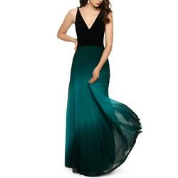 Betsy And Adam Womens Ombre Shimmer Pleated Evening Dress Gown Bhfo 8263